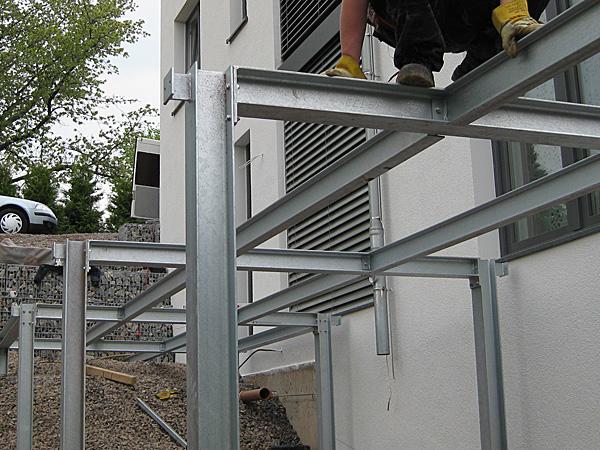 Terrasse Aus Stahl terrassen stahlbau kreative ideen für innendekoration und wohndesign